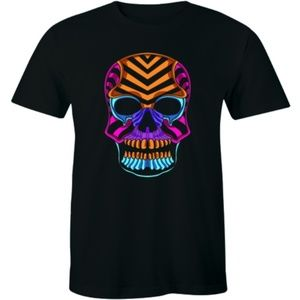 Rainbow Sugar Skull Men's T-shirt Tee